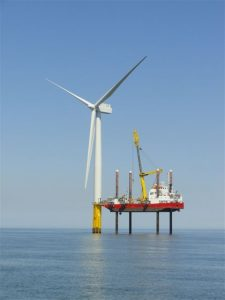 Wind Turbine in the North Sea