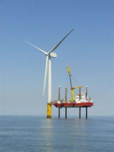 Wind Turbine in the North Sea