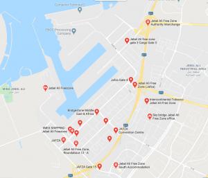 Map of Jebal Ali