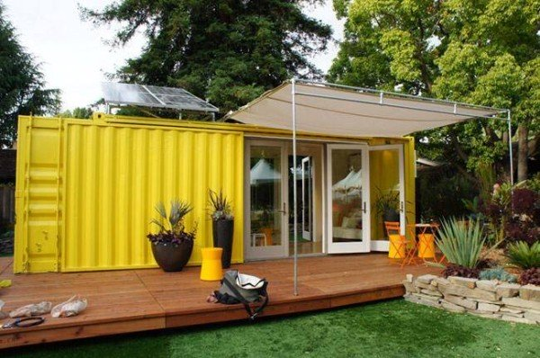 A single container tiny house